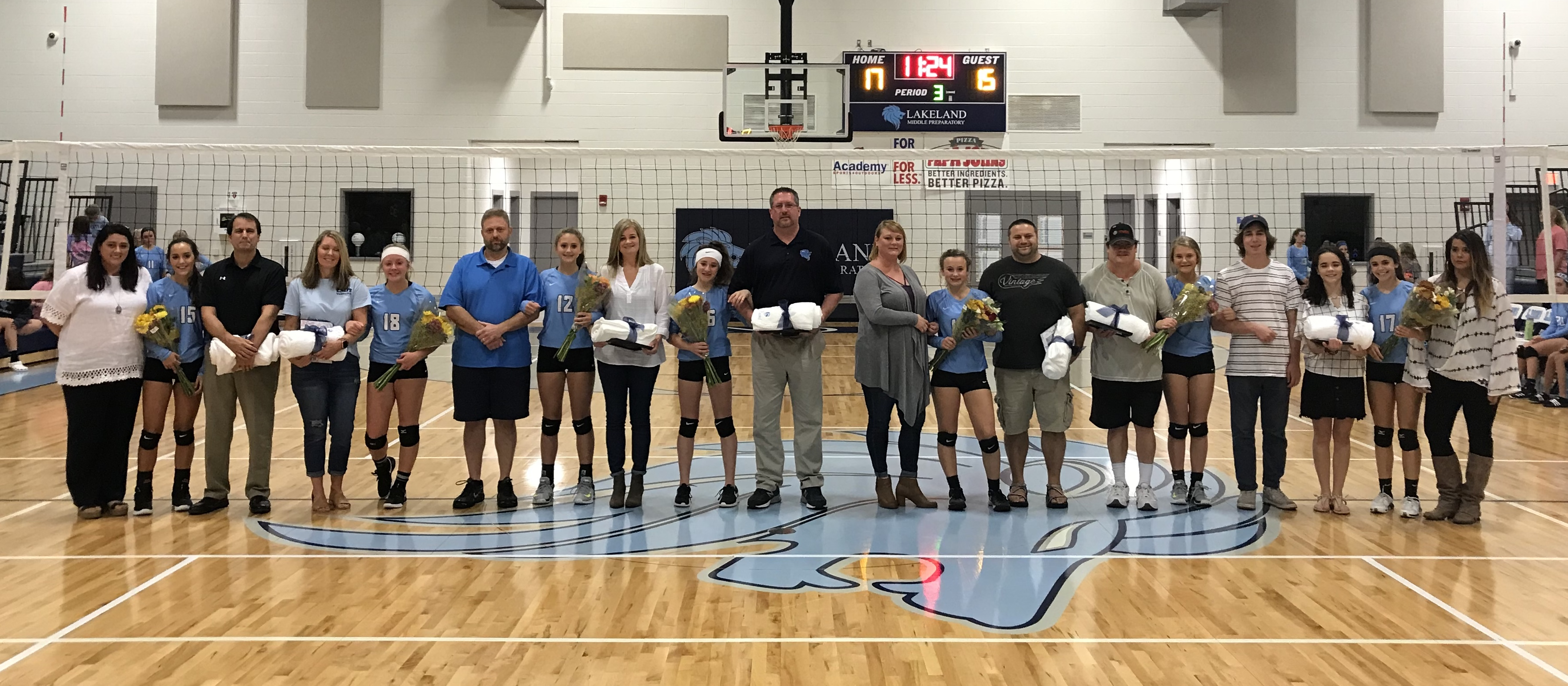 Volleyball Victory And 8th Grade Recognition Lakeland Currents