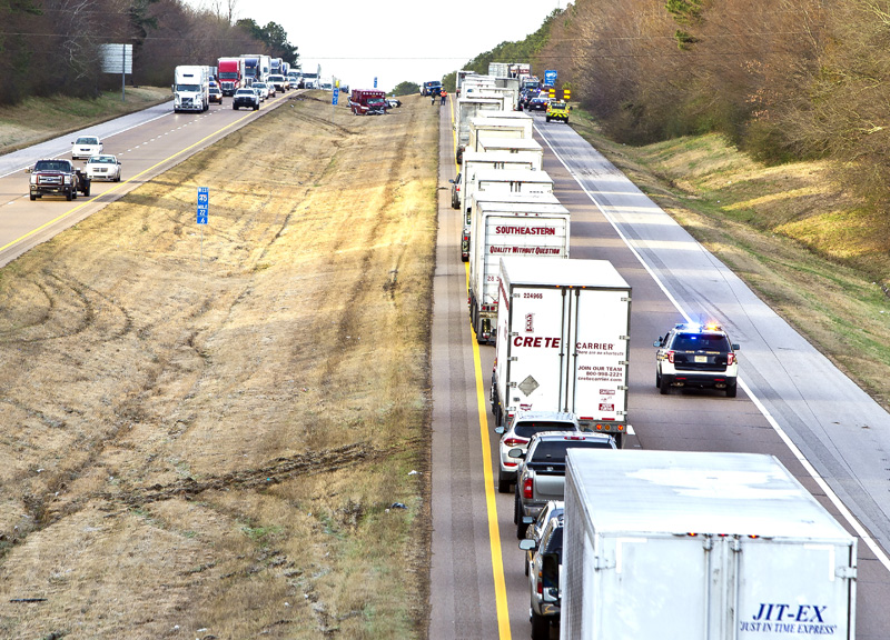 Multi-vehicle wreck on I-40 near Canada Road this morning kills one